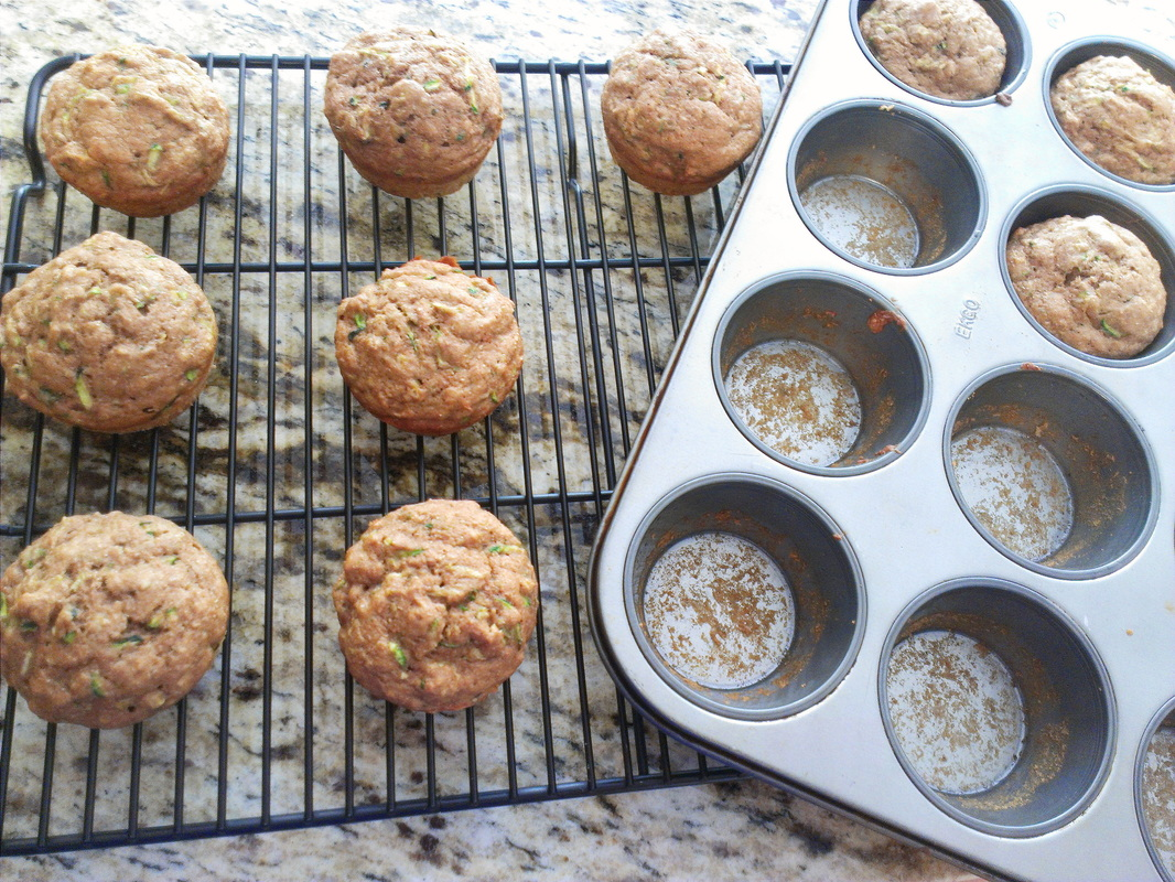 Whole Wheat Zucchini Muffins by Creating a Curated Life