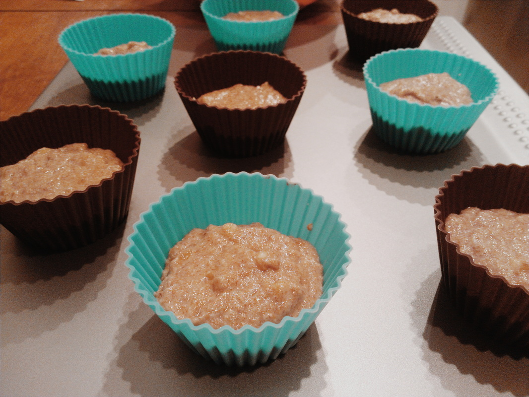 Banana Muffins with ground flax seed.