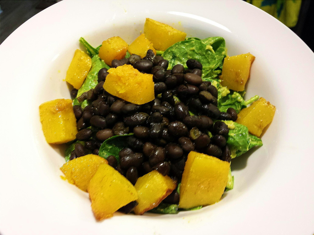 Roasted Butternut Squash & Spiced Black Bean Salad. creatingacuratedlife.com