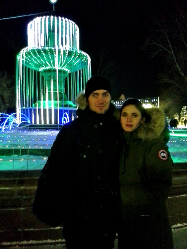 Visiting the Winter wonderland in Omsk