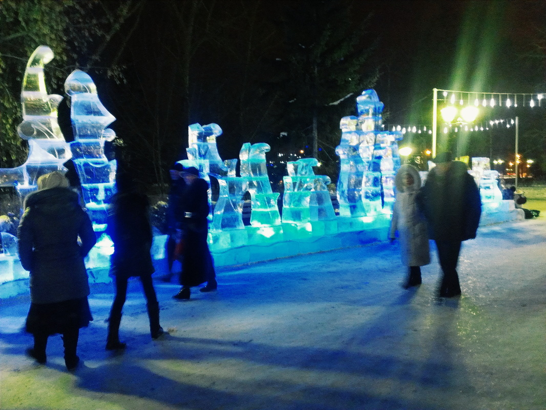 View of the Winter wonderland in Omsk