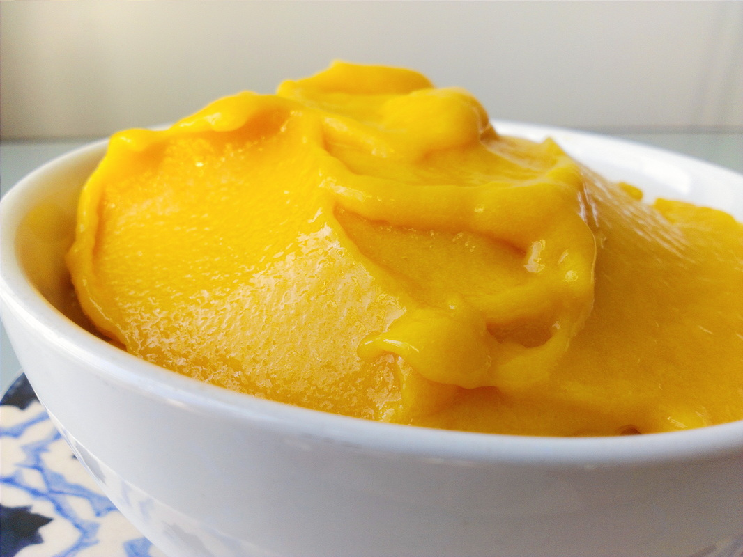 Mango Sorbet, Recipe by Creating A Curated Life.