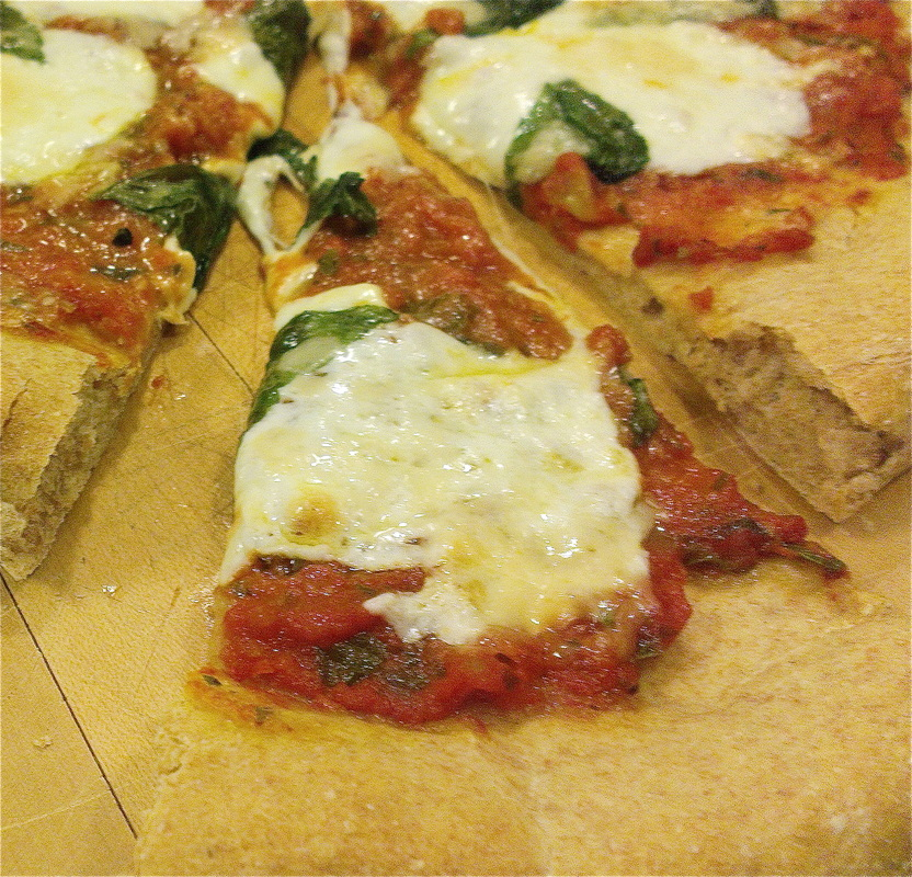Homemade Margarita pizza from Creating a Curated Life.
